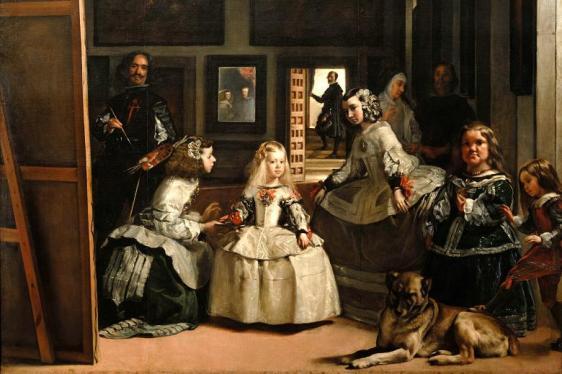 """Έργο του ζωγράφου Ντιέγκο Βελάσκεθ, """"Οι Δεσποινίδες των τιμών"""" (Las Meninas, 1656-1657, Πράδο, Μαδρίτη), που χαρακτηρίστηκε ως  η Φιλοσοφία της Τέχνης*"""